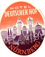 10  Hotel Labels GERMANY Duitsland Deutschland Nurnberg Boppard Augsburg Frankfurt Titisee Wilhelmshaven - Hotel Labels