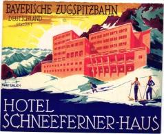 11  Hotel Labels GERMANY Duitsland Deutschland Bayerische Zugspitzbahn Ski  Wuppertal  Zug Ettersberg Trier Husum - Hotelaufkleber