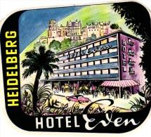 12  Hotel Labels Sammlung  Etiketten -5 Heidelberg -  3 Baden Baden - 4 Hannover GERMANY Deutschand Surh Gute Behaltung - Hotel Labels