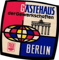 19  Hotel Labels - GERMAN - BERLIN Atlanta Zellermayer Johannishof Am Zoo Stephanie Kempinski Etiquettes Luggage Bagagz - Hotel Labels