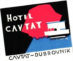 6 Hotel Labels  - Yugoslavia  Yougoslavie JUGOSLAVIJA  - Split - Brno - Dubrovnik - Beograd - Zadar - - Hotel Labels
