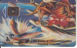 FRENCH POLYNESIA - Peche Aux Cailloux(matt Surface), Chip SC5, CN : 00196, Tirage %10000, 02/93, Used - Französisch-Polynesien