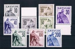Lettland 1992 Monumente Mi.Nr. 326/34 Kpl. Satz ** - Lettland
