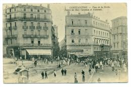 3. CONSTANTINE: Place De La Brèche, Entrée Des Rues Caraman Et Nationale (animé) - Constantine