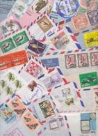 Beau Lot De 112 Lettres Oblitérées - FDC Au Départ De GUYANA - GUYANE BRITANNIQUE - Butterfly, Devil Ray, Parrot, Eagle - Britisch-Guayana (...-1966)