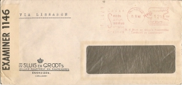 HOLLAND - 1940 Censored COVER From ENKHUIZEN Via LISBOA - Mechanical Postmark ZADEN - SEEDS - SAMEN - SEMILLAS - SEMENU - Machine Stamps (ATM)