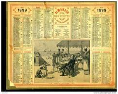 Calendrier 1899 Sur La Terrasse - Calendars