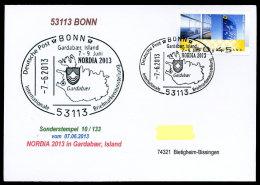 91465) BRD - SoST-Karte 10/133 - 53113 BONN Vom 7.6.2013 - NORDIA 2013 Island Briefmarkenausstellung - [7] West-Duitsland