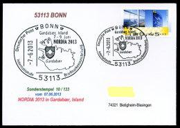 91466) BRD - SoST-Karte 10/133 - 53113 BONN Vom 7.6.2013 - NORDIA 2013 Island Briefmarkenausstellung - [7] West-Duitsland
