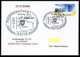 91467) BRD - SoST-Karte 10/133 - 53113 BONN Vom 7.6.2013 - NORDIA 2013 Island Briefmarkenausstellung - [7] West-Duitsland