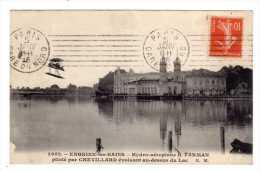 Cpa Enghien Les Bains(95) Hydro Aeroplane H FARMAN Pilote Par Chevillard Evoluant Au Dessus Du Lac- Cpa Aviation - Enghien Les Bains