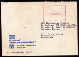 A2028) DDR Kurierbrief Von Kombinat In Erfurt 9.12.1977 An VEB Nach Ilmenau - DDR