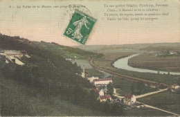 Vallée De La Marne, Vue Prise De Risselou, Carte Colorisée - France