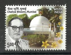 INDIA, 2013, Chaitya Bhoomi, Mumbai,  Dr. B R Ambedkar / Babasaheb 1891-1956,  MNH, (**) - India