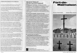 DEPLIANT  4 VOLETS  -  FORT - DE - MALMAISON  - Deutscher Soldatenfriedhof  - Cimetière Militaire Allemand - Books, Magazines  & Catalogs