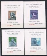 R 43. Serie Hojitas De Pintor Velazquez 1961, Num 1344 - 1347 ** - 1889-1931 Reino: Alfonso XIII