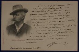 """FELICE CAVALLOTTI NON VIAGGIATA Fp ANNI """"900 #18017 - Personnages Historiques"""