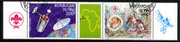MALI 1985, PHILEXAFRIQUE, SATELLITE, SCOUTS, LION, 2 Valeurs + 1 Vignette, Oblitérées. R150 - Space