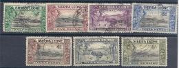 130504428   SIERRA LEONA  G.B. YVERT   Nº 158/159/160A/162/163/165/166 - Sierra Leone (...-1960)