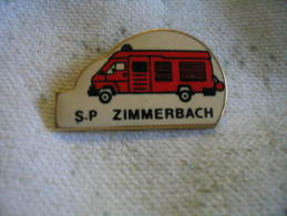 Pin's Des Sapeurs Pompiers De ZIMMERBACH - Brandweerman