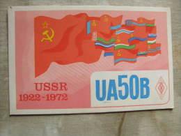 Russia  Leningrad -   QLS Radio Card -   OP Alex -  1972  50 Yrs Comm USSR  D105751 - Russia