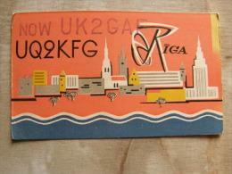 Latvia  -Riga  -  QLS Radio Card -     D105754 - Latvia
