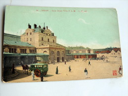 Carte Postale Ancienne : DIJON : Gare Dijon-Ville , Animé - Dijon