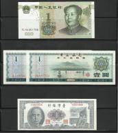 CHINE . LOT DE QUATRE BILLETS  . - China