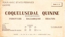 - Buvard Pharmacie - Produits Paharmaceutiques - COQUELUSEDAL  - LABORATOIRE ELERTE - Aubervilliers - Chemist's