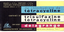 - Buvard Pharmacie - Produits Paharmaceutiques - Laboratoires Delagrange Tetracycline - Produits Pharmaceutiques