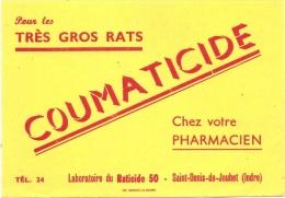 - Buvard Pharmacie - Produits Paharmaceutiques RATICIDE -  Coumaticide - Produits Ménagers