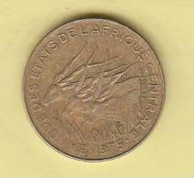 Pièce - Banque Des Etats De L´Afrique Centrale - 5 Francs - 1975 - Monnaies