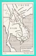 INDOCHINE FRANCAISE --> Carte Géographique - Cartes Postales