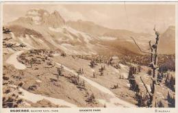 Montana Glacier National Park Granite Park Real Photo RPPC