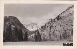 Montana Glacier National Park Castle Rock 1950Real Photo RPPC