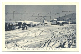Megève (74) : Les Pistes Sous Le Téléphérique De Rochebrune à La Gare De Départ Env 1930 (animé). - Megève
