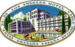 10  Hotel Labels - Espana Spain Spanje Espagne - Granada Guadalajara Sevilla Murcia Padova San Sebastian Tenerife - - Hotel Labels
