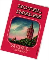 10  Hotel Labels - Espana Spain Spanje Espagne Puerto De La Cruz Granada Padova Madrid - Valencia - Zaragoza - Tarragona - Hotelaufkleber