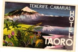 9  Hotel Labels - Etiketten Gran Canaria - Las Palmas - Puerta De La Cruz - Taoro - Parque - 7Soles - Hocasa - Taoro - Etiquettes D'hotels