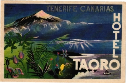 4   Hotel Labels - Etiketten Gran Canaria - Parque - Mencey Gran Canaria - Taoro - Hotel Labels