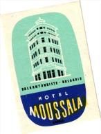 10  Hotel Labels - Etiketten    BULGARIE - Bulgarian Air Transport Etiquettes De Bagage - Lugage Labels Kofferetiketten - Etiketten Van Hotels