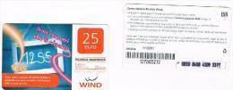 ITALIA  WIND - C&C (11^ ED.) 3518 - 1255 TROVA I NUMERI 25 SC. 31/12/2012  (SUPP. PIN, ZONA DATI OPACA )  USATA - RIF CP - [2] Sim Cards, Prepaid & Refills