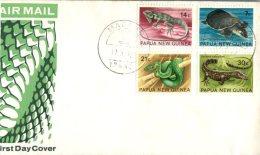 (601) Papua New Guinea FDC Cover - Premier Jour De Papaousie -  1972 - Animals - Papouasie-Nouvelle-Guinée