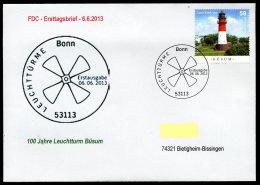 27856) BRD - Michel 3011 - FDC ESST Bonn - 100 Jahre Leruchtturm Büsum - [7] Federal Republic
