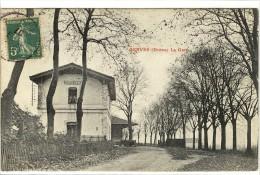 Carte Postale Ancienne Serves - La Gare - Chemin De Fer - Francia