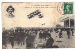 Carte Postale Rouen Grande Semaine D´aviation 1910 Cpa 76 Seine Maritime Normandie Avion Meetting Aérien Gros Plan Animé - ....-1914: Précurseurs