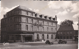 CPSM FLERS DE L'ORNE(61)écrite-place De La Gare-hotel Du Gros Chêne-14x9-dentelée - Flers