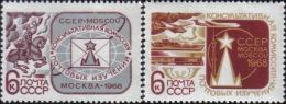 1968 UPU Consultative Horse Airplane Ship Train Russia Stamp MNH - Russia & USSR