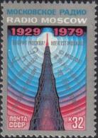 1979 50th Soviet Broadcasting Radio Russia Stamp MNH - Russia & USSR