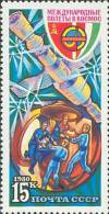 1980 Soviet Hungarian Space Rocket Satellite Russia Stamp MNH - Russia & USSR